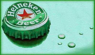 Heineken Cap Green Original by Tony Rubino
