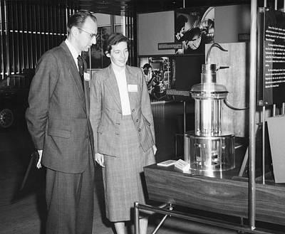 Heinz And Doris Wilsdorf Print by Emilio Segre Visual Archives/american Institute Of Physics