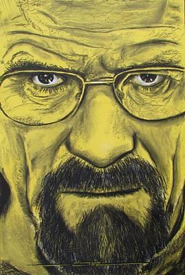Hartwell Drawing - Heisenberg - Breaking Bad by Eric Dee