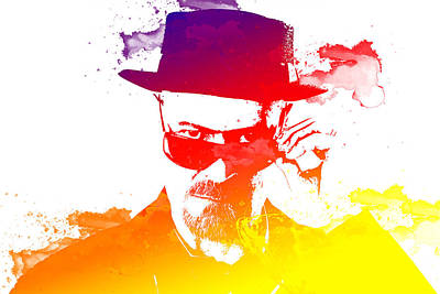 Heisenberg Watercolour Print by Chris Smith
