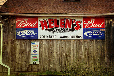 Budweiser Photograph - Helen's Place by Joan Carroll