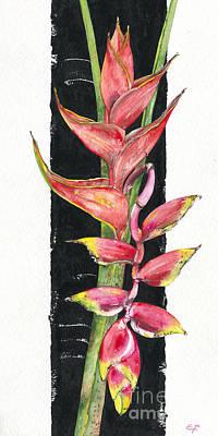 Painting - Heliconia 02 Elena Yakubovich by Elena Yakubovich