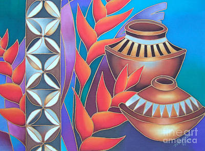 Heliconia Painting - Heliconia With Pots by Maria Rova