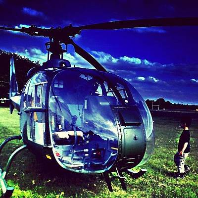 Helicopter Photograph - Helicopter by Chris Drake