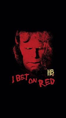 Hellboy Digital Art - Hellboy II - I Bet On Red by Brand A