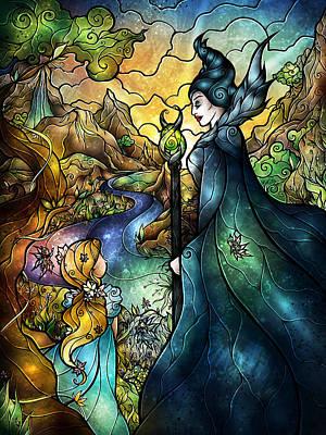 Maleficent Digital Art - Hello Beastie by Mandie Manzano