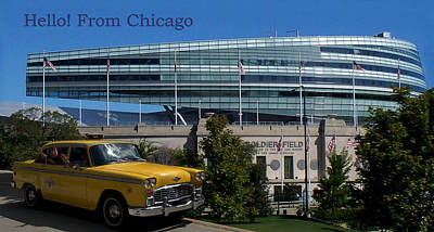 Soldier Field Digital Art - Hello From Chicago Soldier Field by Thomas Woolworth