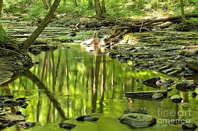 Hells Run Reflections Print by Adam Jewell