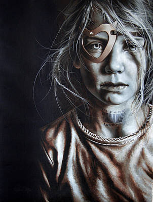 Missing Child Painting - Helpless Cry by Mario Pichler
