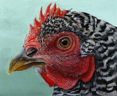 Grande Painting - Hen by Michael Trujillo