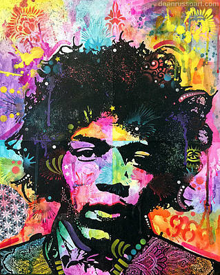 Jimi Hendrix Painting - Hendrix Six Was Nine No. One by Dean Russo
