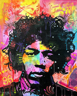 Jimi Hendrix Painting - Hendrix Six Was Nine No. Two by Dean Russo