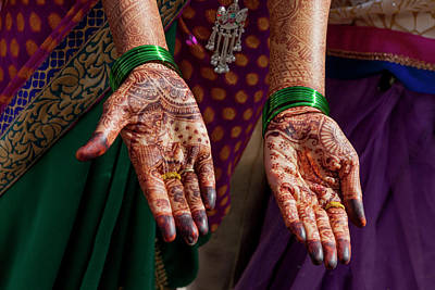Body Paint Photograph - Henna Decoration by Tom Norring