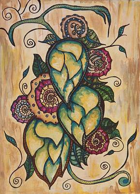 Henna Hops Study 1 Print by Alexandra Ortiz de Fargher