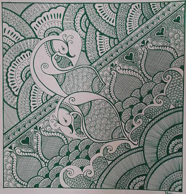Warli Painting - Henna by M Ande