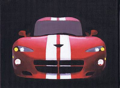 Viper Painting - Hennessey Viper by Chris Istenes