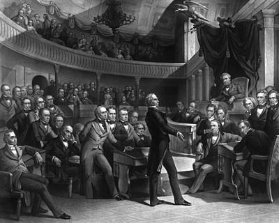 Henry Clay Speaking In The Senate Print by War Is Hell Store