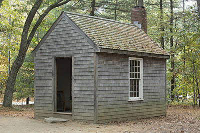 Thoreaus Cabin Photograph - Henry David Thoreaus Cabin by Science Stock Photography