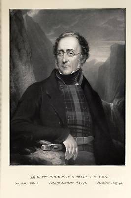 Fossil Reconstruction Photograph - Henry De La Beche, English Geologist by Paul D. Stewart