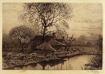 Long Island Drawing - Henry Farrer, Untitled Farmhouse, Long Island by Quint Lox