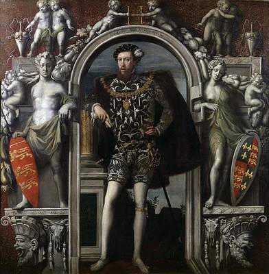 Medieval Painting - Henry Howard - Earl Of Surrey by William Scrots