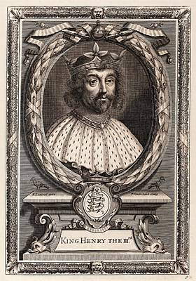 Henry IIi Print by Middle Temple Library