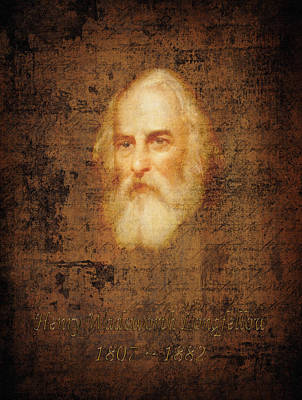 Henry Wadsworth Longfellow Print by Andrew Fare