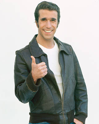 Cult Photograph - Henry Winkler In Happy Days  by Silver Screen