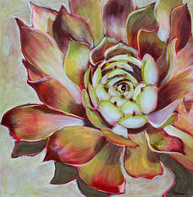 Hens And Chicks Painting - Hens And Chicks by Sandrine Pelissier