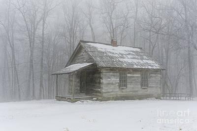 Brush Mountain School House Print by Anthony Heflin