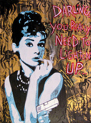 Audrey Hepburn Painting - Hepburn You Down by Bobby Zeik