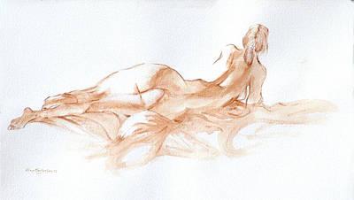 Monotone Painting - Her Body by Alex Mortensen