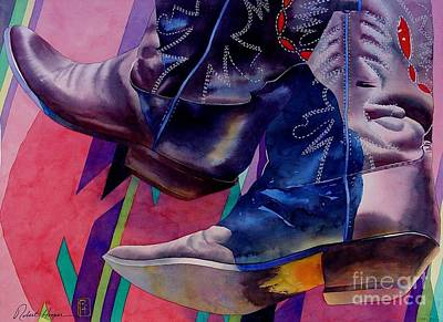 Cowboy Boots Painting - Her Boots by Robert Hooper