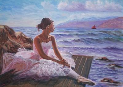 Her Dream Print by Elena Sokolova
