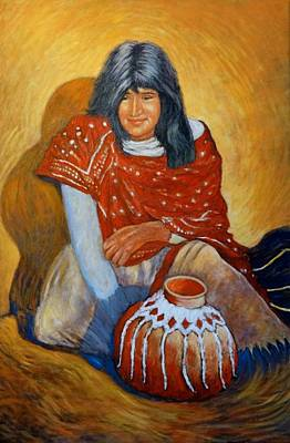 Galleries In Arizona Painting - Her Last Pot by Charles Munn