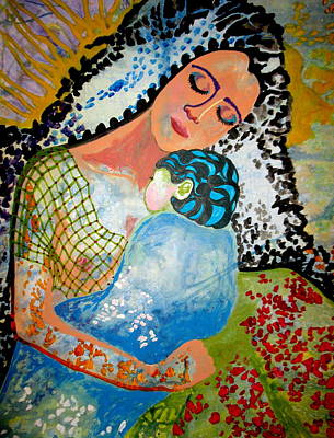 Woman And Baby Painting - Her Love by Amy Sorrell