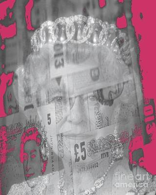 Exchange Mixed Media - Her Majesty Queen Elisabeth by PainterArtist FIN