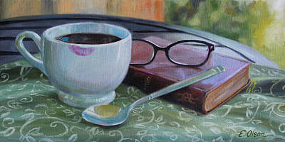 Her Morning Coffee Original by Emily Olson