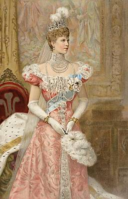 Jewels Drawing - Her Royal Highness The Princess by Samuel Begg