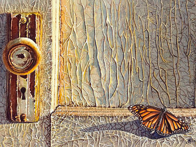 Her Wings Were Kissed By The Sun Print by Greg and Linda Halom