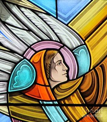 Heralding Angel Print by Gilroy Stained Glass
