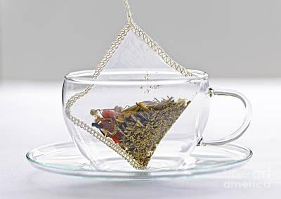 Herbal Tea Bag In Cup Print by Elena Elisseeva