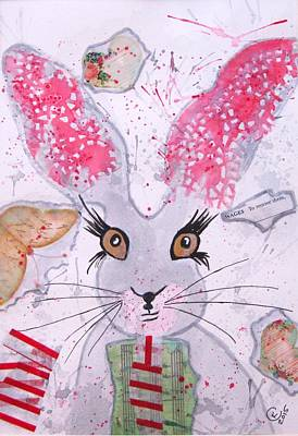 March Hare Painting - Herby Hare by Karen  Connolly