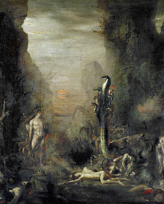 Monster Photograph - Hercules And The Lernaean Hydra, After Gustave Moreau, C.1876 Oil On Canvas by Narcisse Berchere