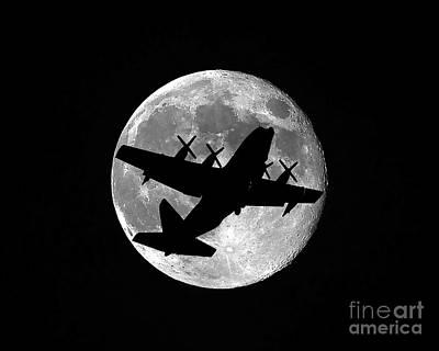 C130 Photograph - Hercules Moon by Al Powell Photography USA