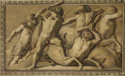 Centaur Drawing - Hercules Slays The Centaurs, Jupiter Defeating The Centaurs by Litz Collection