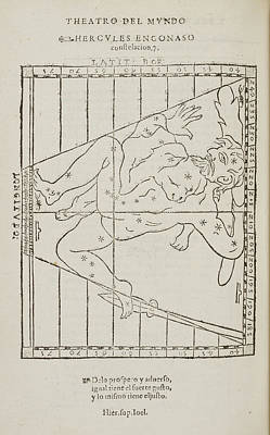 Constellations Photograph - Hercules The Warrior Star Constellation by British Library