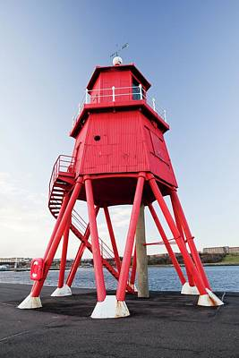 At Sea Photograph - Herd Groyne Lighthouse by Ashley Cooper
