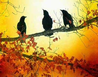 Starlings Digital Art - Here Comes The Sun by Gothicrow Images