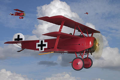 Fokker Photograph - Here Comes Trouble by Mike McGlothlen